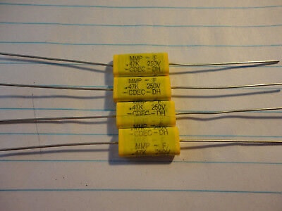 4pcs .47uf-250v Axial Lead Polyester Film Capacitor