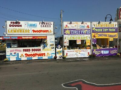 Turnkey Mobile Food Biz With 2 Trailers 3 Tents 2 Carts And 2008 Chevy Truck F