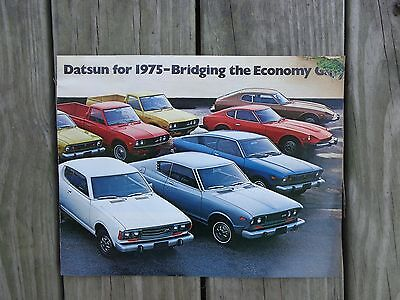 Datsun for 1975 - Bridging the Economy Gap Color Brochure 16 pages