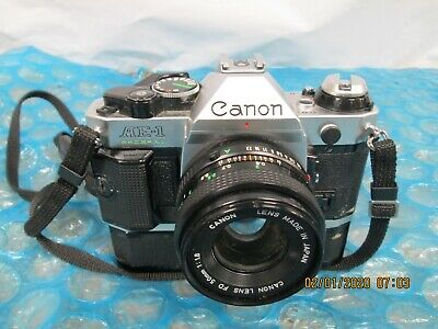 Canon AE-1 Program 35mm SLR Film Cameras with nFD 50mm 1.8 Lens