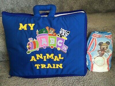Montessori fabric activity book, busy book, quiet book - ANIMAL TRAIN Bible Alphabet Train