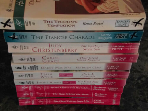 Harlequin Romance lot of 10 Large Print assorted authors contemporary romance