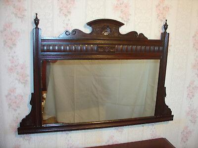 Edwardian overmantle Mirror