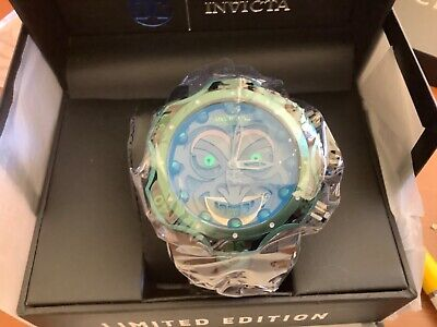 Invicta Reserve Venom DC Comics Joker Black Green 52mm Swiss Mvt Watch New