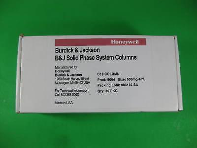 Honeywell Burdick Jackson C18 Column 500mg4ml Pack Of 50 -- Bj9004 -- New