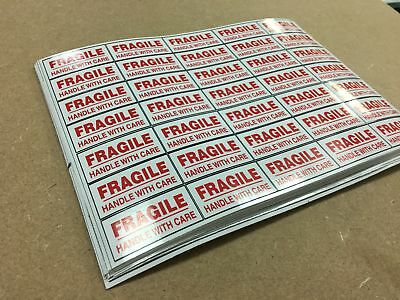 FRAGILE STICKERS - Self-Adhesive Labels Please Handle with (Fragile Please Handle)