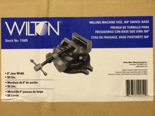 Wilton 11605 6-Inch Milling Machine Vise W/ Base