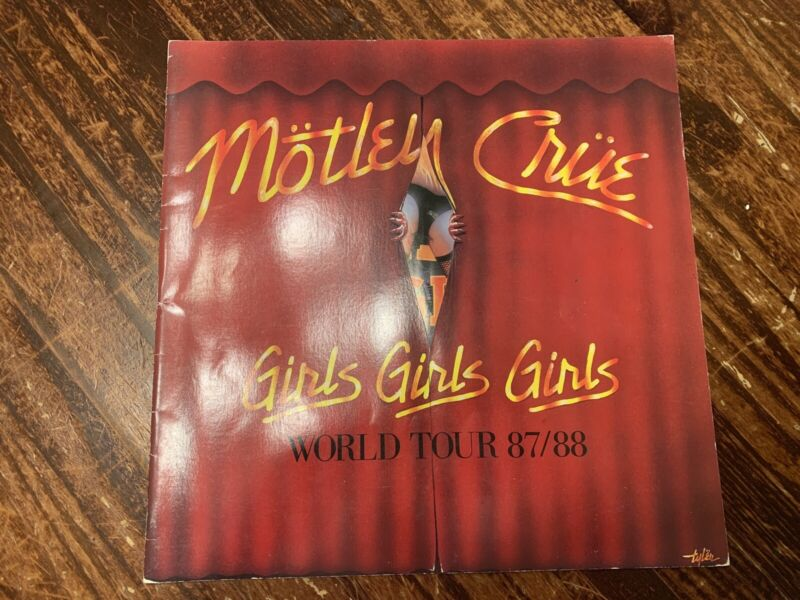 Motley Crue Girls Girls Girls World Tour 1987 1988 Tour Book Program