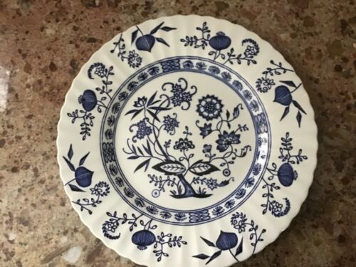 VINTAGE BLUE NORDIC J & G CLASSIC MEAKIN ENGLAND ENGLISH IRONSTONE DINNER PLATE