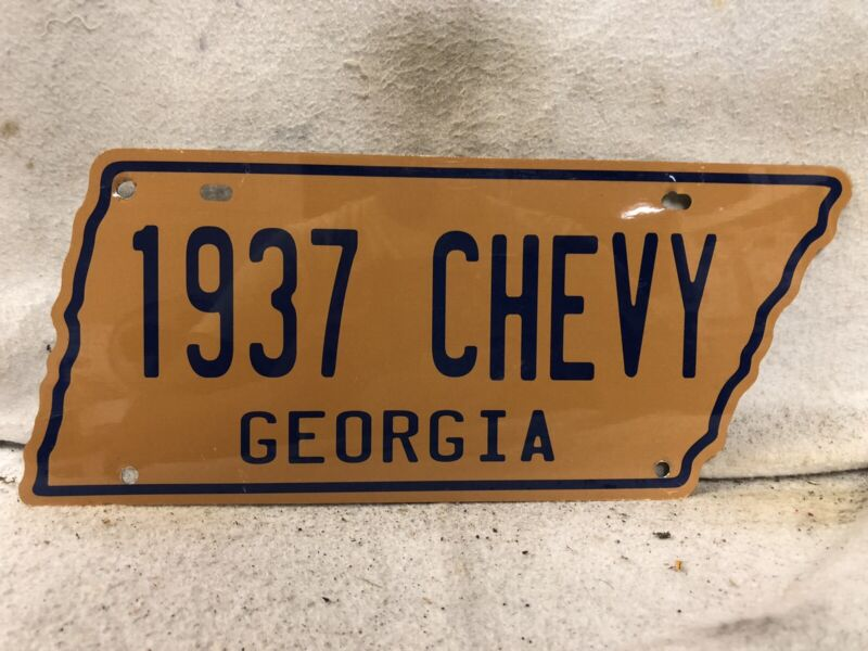 Vintage 1937 Chevy Georgia License Plate