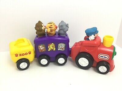 Little Tikes Train w Sounds Zoo Animal Train Toy Engine Cars Animals Conductor Little Tikes Train