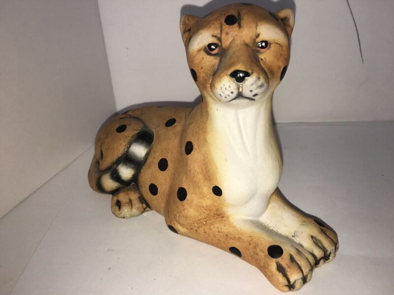 vintage k's collection ceramic cheetah 4""