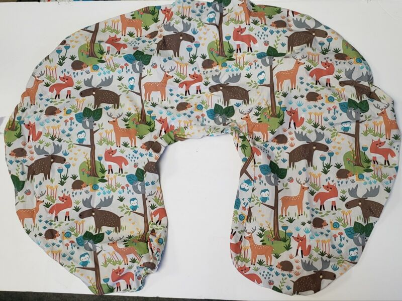 Boppy Slipcover Earth Tone Woodland Print fits Feeding & Infant Support Pillows