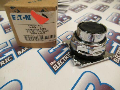 Cutler Hammer 10250T101, Series A1, Black Push Button Operator- NEW-B