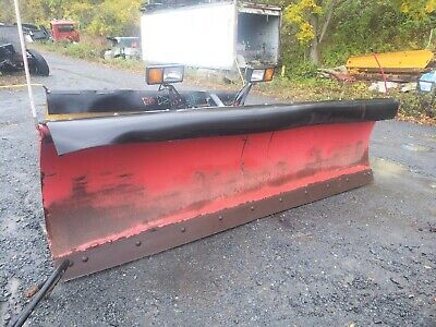 Heavy Duty Power Angle 10 Ft Complete Snow Plow Hydraulic Truck Tractor