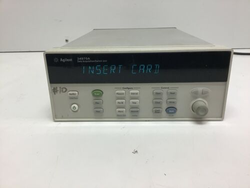 HP Agilent 34970A Data Acquisition Switch Unit W/ Option 001 TESTED