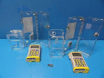 2 X Hospira Gemstar Yellow Cap Infusion Pumps W 2 X Lock Box 1 Key 11264