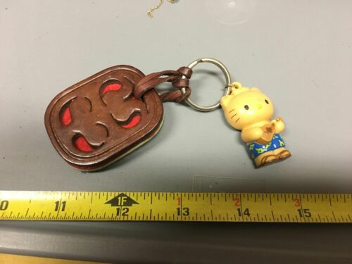 Vintage Hello Kitty Keychain Sanrio Guitar