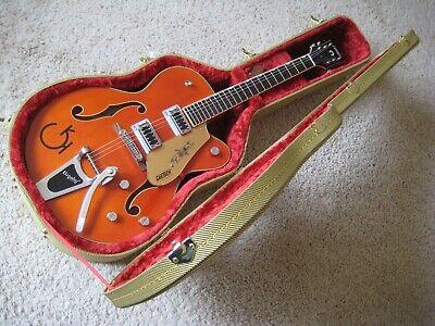 MINT! GRETSCH ELECTROMATC Orange Stain 5420 Guitar-w/Step-Up 6120 Decals/Pickgd!