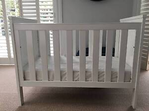 Stylish and classic white timber BABY COT for urgent sale Woollahra Eastern Suburbs Preview