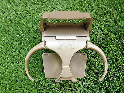 1996-2002 TOYOTA 4RUNNER Center Console Rear Cup Holder Oak Tan OEM #55615-35010