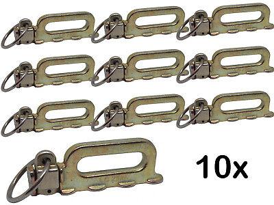 10 x Quattro Stud Endbeschlag / Fitting für Airlineschiene 5000 daN