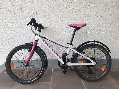 "Fahrrad Kinderfahrrad MTB Ghost Powerkid 20"" Weiss/Pink | TOP!"
