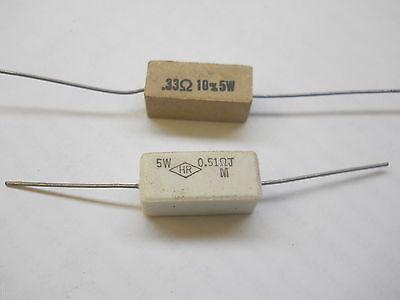 680 Ohm 5 Watt 5 Cement Power Resistor Nosnew Old Stockqty 10 Eaj2