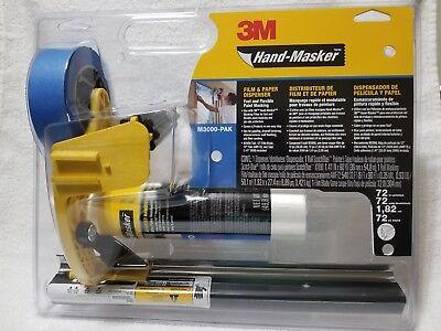 Hand Masker Film Blade - 3M HAND-MASKER M3000-PAK Masking 12' Film Blade Roll Kit Blue Tape AMF72 New