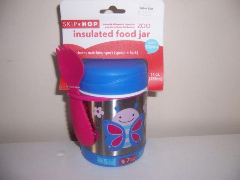 Skip Hop Zoo insulated food jar Butterfly Toddler Feeding Storage 12m+ 11oz