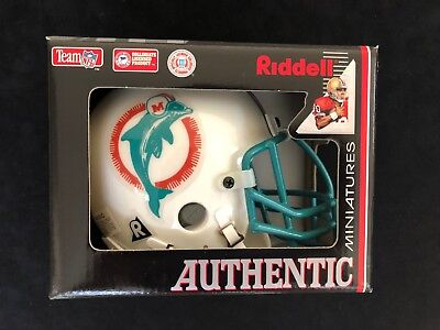 MIAMI DOLPHINS Riddell Throwback Authentic Mini-Helmet Wire Face Mask Super (Authentic Riddell Mini Helmet)