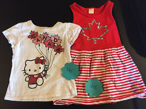 Girls 4T Canada dress and Tshirt hello kitty $5 for both total