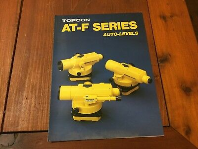 Topcon At-f Series Auto Levels Brochure Surveyor