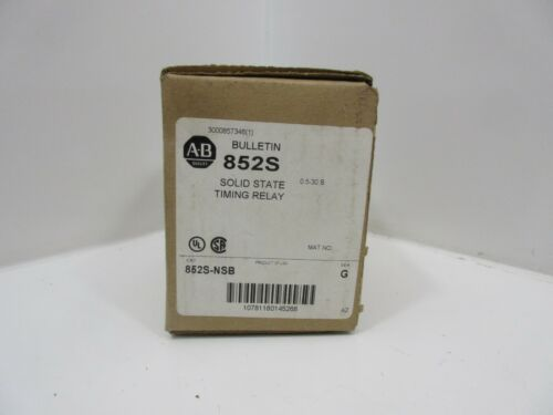 *NEW* Allen Bradley 852S-NSB Solid State Timing Relay *60 DAY WARRANTY*