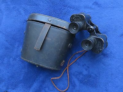 RARE WW2 ORIGINAL US NAVY 6X30 MILITARY BINOCULARS AND CASE ANNEX GUNFACTORY