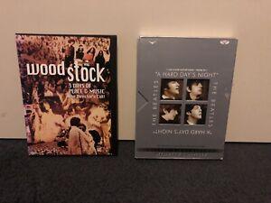 1969 Woodstock and Beatles DVDs