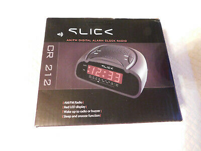(NEW)-Slick CR 212 AM/FM Digital Alarm Clock Radio-(*FREE SHIPPING*)