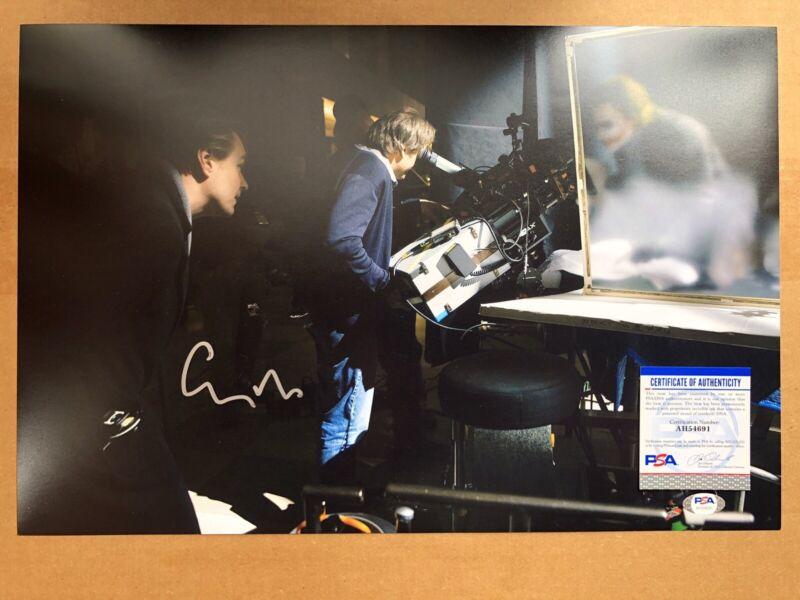 Christopher Nolan Signed 12x18 The Dark Knight w/ Joker Tenet Autograph PSA COA