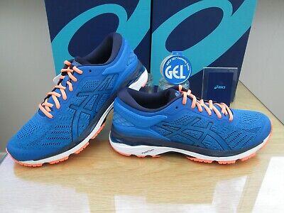 ASICS GEL-KAYANO 24 MENS BLUE PEACOAT ORANGE RUNNING TRAINERS SIZE UK 7.5 EUR 42