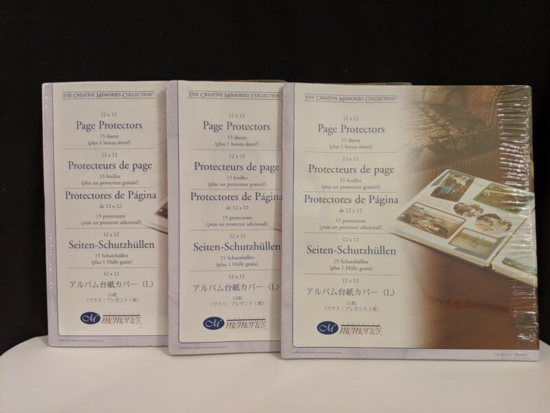 Lot of 3 Packs ~ 2004 Creative Memories 12 x 12 Page Protectors ~ Qty 48 total