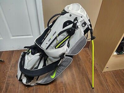 Nike Sport 8 Divider Golf Stand Bag Black/White/Highlighter Yellow w Raincover