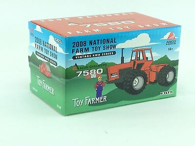 1/64 ERTL 2008 NATIONAL FARM TOY SHOW ALLIS CHALMERS 7580 4WD TRACTOR