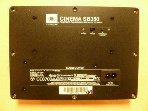 JBL SUBWOOFER SYSTEM CINEMA SB350