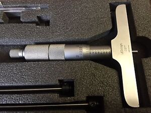 "Mitutoyo depth micrometer set 0-6"" 192-132 like new"