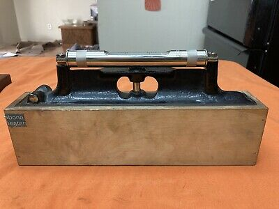 Vintage J Rabone Sons 12 Engineers Machinist Level W Wood Box Look N251