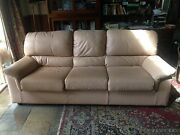 THREE SEATER LEATHER COUCH AND 2 ARMCHAIRS Frankston Frankston Area Preview