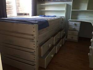 King Single bed with underneath drawers Eltham Nillumbik Area Preview