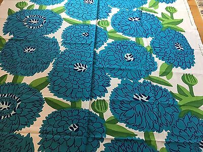 "Marimekko Fabric ""Primavera""  by the Yard, Perfect, New,100% Cotton, Blues"