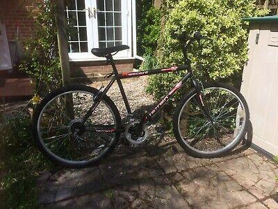 "Mens black mountain bike 50cm frame, 26"" wheels (hardly used)"