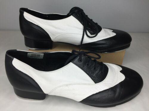 Leo's Ultratone Women's Dancing Tap Shoes 11M Black White